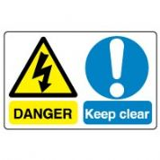 Multiple safety sign - Keep Clear 022